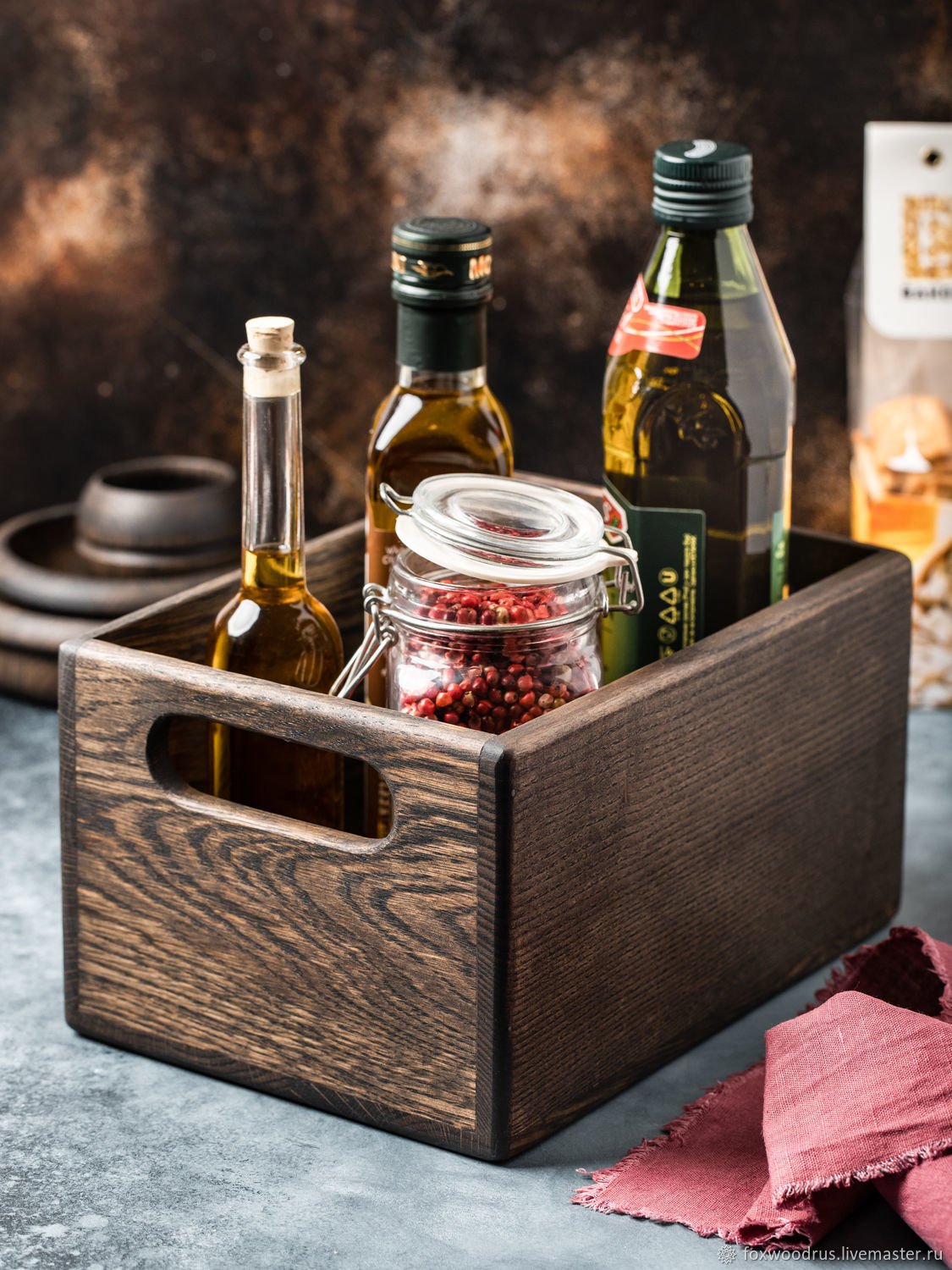 Dark oak drawer for storing kitchen items, Jars, Moscow,  Фото №1