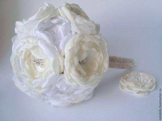 Свадебные цветы ручной работы. Ярмарка Мастеров - ручная работа. Купить Свадебный букет Винтаж. Handmade. Брошь букет, кружево