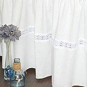 Подзоры и юбки для кровати ручной работы. Ярмарка Мастеров - ручная работа Льняной подзор на кровать в стиле прованс. Handmade.