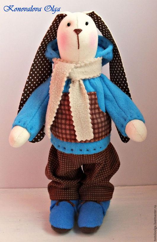 Игрушки животные, ручной работы. Ярмарка Мастеров - ручная работа. Купить Тильда заяц. Заяц тильда. Заяйц мальчик. Зайчик интерьерный.. Handmade.