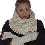 Аксессуары handmade. Livemaster - original item Snood fingerless gloves the wool handmade. Handmade.