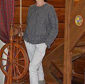 Одежда ручной работы. Ярмарка Мастеров - ручная работа Джемпер вязаный «В деревне». Handmade.
