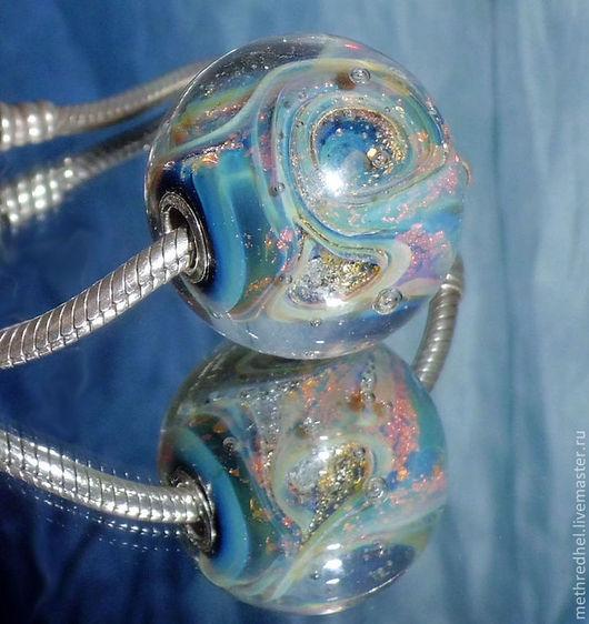 Кулоны, подвески ручной работы. Ярмарка Мастеров - ручная работа. Купить Кулон-шар лэмпворк Воздух. Рассветное Небо. Handmade.