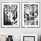 Картины и панно handmade. Livemaster - original item Paris photo Black and white paintings in the living room Architecture Posters on the wall. Handmade.