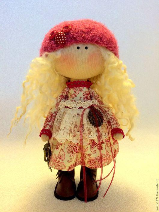Человечки ручной работы. Ярмарка Мастеров - ручная работа. Купить Текстильная кукла. Handmade. Красный цвет, кукла, кукла текстильная
