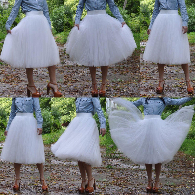 Пышная свадебная юбка из фатина своими руками