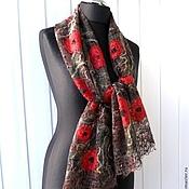 Аксессуары handmade. Livemaster - original item Poppies, poppies, poppies... - Openwork scarf - stole. Handmade.