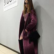Одежда handmade. Livemaster - original item Burgundy cardigan with a color gradient. Handmade.