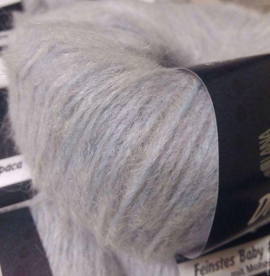 Вязание ручной работы. Ярмарка Мастеров - ручная работа. Купить Пряжа Дито  Lana Grossa. Handmade. Голубой