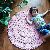 Для дома и интерьера ручной работы. Ярмарка Мастеров - ручная работа коврик, вязаный коврик, хлопковый коврик. Handmade.