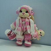 Куклы и игрушки ручной работы. Ярмарка Мастеров - ручная работа Зайка в зимней одежде. Handmade.