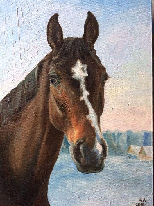 Животные ручной работы. Ярмарка Мастеров - ручная работа. Купить Портрет лошади на заказ. Handmade. Лошадь, конь, масло, портрет