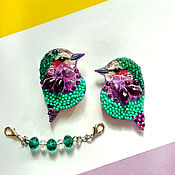 Украшения handmade. Livemaster - original item Paradise birds. Handmade.
