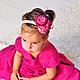Детская бижутерия ручной работы. Повязка для волос Розовые цветы. Berry Fairy. Интернет-магазин Ярмарка Мастеров. Повязка на голову