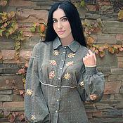 """Одежда handmade. Livemaster - original item Вышитая блуза """"Французские розы"""" блуза с ручной вышивкой. Handmade."""