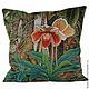 Текстиль, ковры ручной работы. Ярмарка Мастеров - ручная работа. Купить Подушка Орхидея. Handmade. Зеленый, орхидеи, подушка с орхидеей