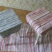 Русский стиль ручной работы. Ярмарка Мастеров - ручная работа сидушка на табурет. Handmade.