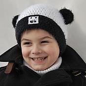 """Работы для детей, ручной работы. Ярмарка Мастеров - ручная работа Шапочка """"Маленькая панда"""". Handmade."""