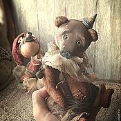 """Куклы и игрушки ручной работы. Ярмарка Мастеров - ручная работа """"Маленький цирк потертых носиков)))"""" зайка и мишка тедди-долл. Handmade."""