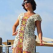 Одежда handmade. Livemaster - original item Beach openwork tunic crochet lace dress made of cotton. Handmade.