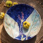 Посуда ручной работы. Ярмарка Мастеров - ручная работа керамическое блюдо Лунный шалфей. Handmade.