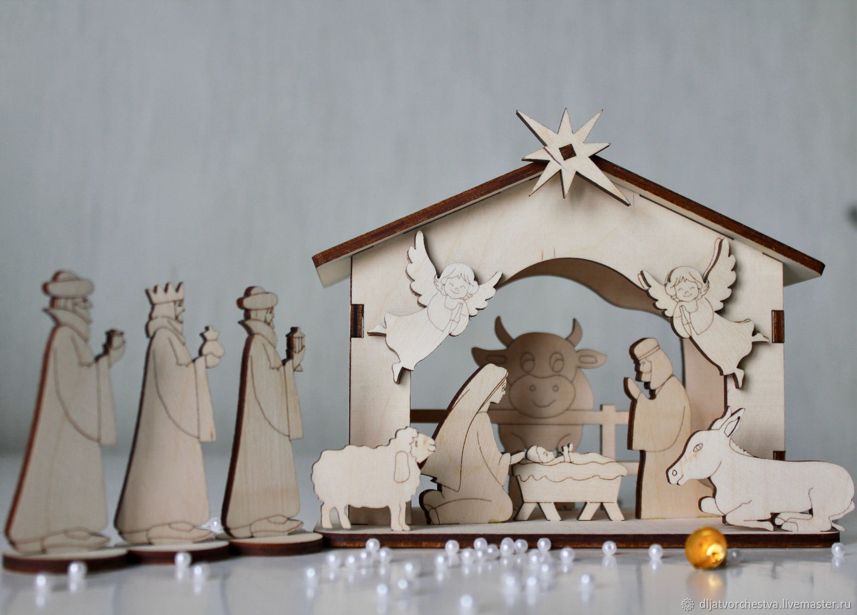 сервиса конструктивная открытка рождественский вертеп музыке