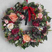 Цветы и флористика handmade. Livemaster - original item the wreath on the door. Handmade.
