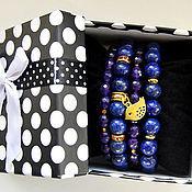 Украшения handmade. Livemaster - original item A bright set of bracelets made of lapis lazuli and agate. Handmade.