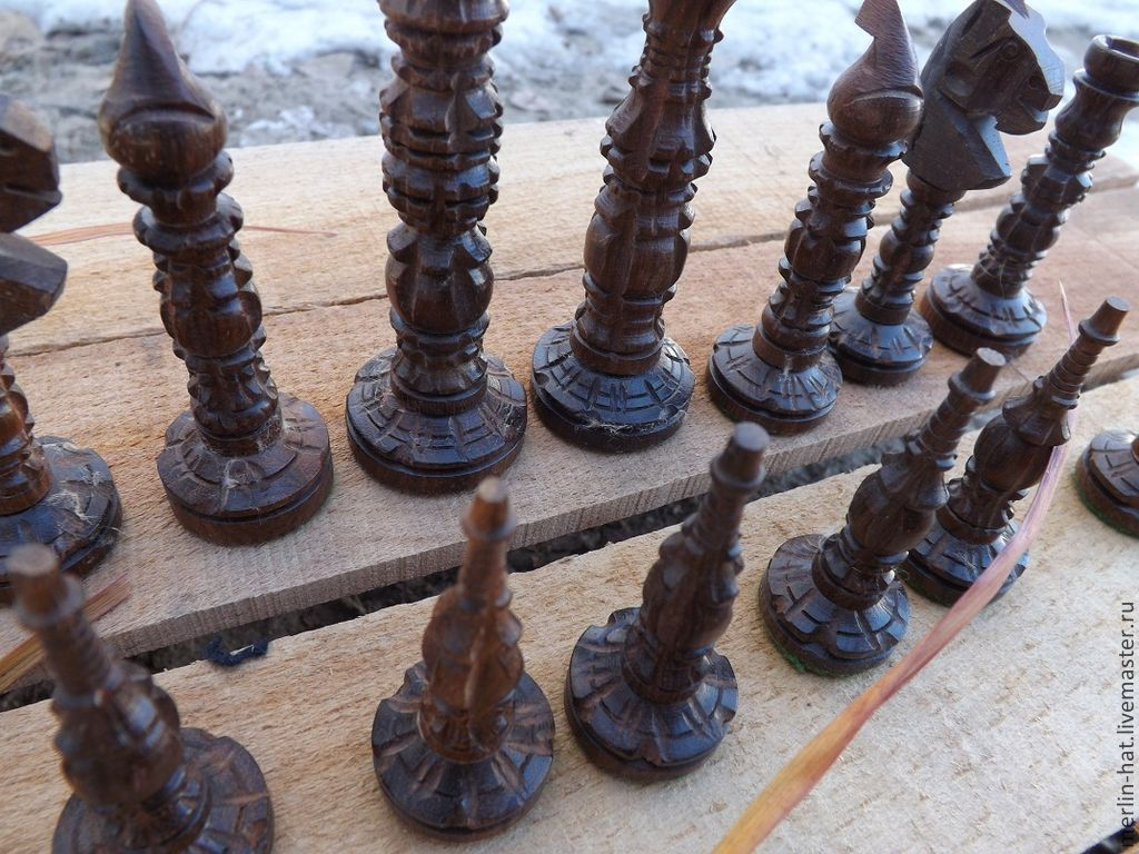 Carved chess 'city of the apes', Stuffed Toys, Tambov,  Фото №1