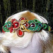 Украшения ручной работы. Ярмарка Мастеров - ручная работа Сутажный ободок для волос.. Handmade.