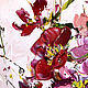 Interior oil Painting Red flowers in the interior. Pictures. Zabaikalie. My Livemaster. Фото №4