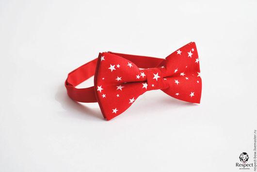 Галстуки, бабочки ручной работы. Ярмарка Мастеров - ручная работа. Купить Красная галстук бабочка Звездочки / бабочка-галстук со звездами. Handmade.