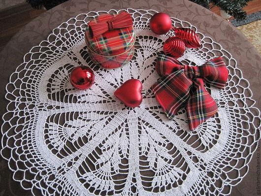 Текстиль, ковры ручной работы. Ярмарка Мастеров - ручная работа. Купить Салфетка № 82. Handmade. Белый, вязание