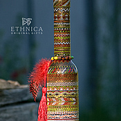 """Посуда ручной работы. Ярмарка Мастеров - ручная работа Декоративная бутылка """"Africana Red"""". Handmade."""