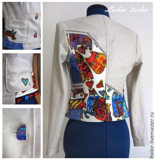Пиджаки, жакеты ручной работы. Ярмарка Мастеров - ручная работа. Купить Пошив авторских работ. Handmade. Авторская работа, комбинированный