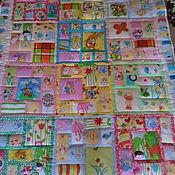 Для дома и интерьера ручной работы. Ярмарка Мастеров - ручная работа Веселые картинки детское лоскутное одеяло. Handmade.