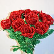 Цветы и флористика ручной работы. Ярмарка Мастеров - ручная работа Букет роз. Handmade.