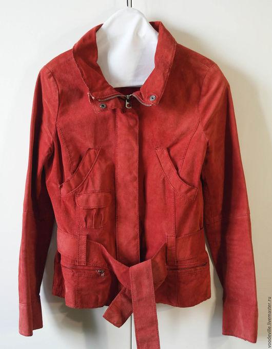 Одежда. Ярмарка Мастеров - ручная работа. Купить Куртка замшевая от MaxCo. Handmade. Ярко-красный, нубук, хлопок 100%
