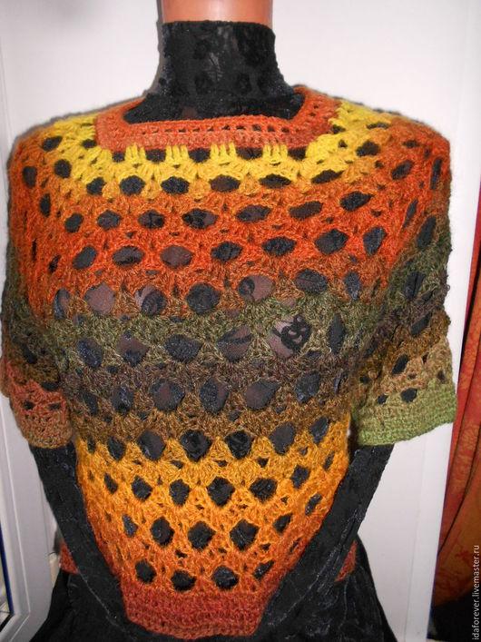 Кофты и свитера ручной работы. Ярмарка Мастеров - ручная работа. Купить Топ Жилет Пуловер вязаный крючком Осень. Handmade.