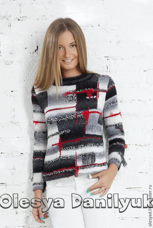 """Кофты и свитера ручной работы. Ярмарка Мастеров - ручная работа. Купить пуловер """"Пэчворк"""". Handmade. Разноцветный, в стиле пэчворк"""