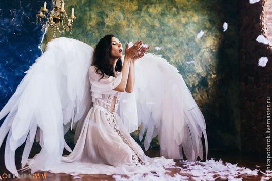 """Белье ручной работы. Ярмарка Мастеров - ручная работа. Купить """"Нежный ангел.."""" -  шелковый пеньюар. Handmade. Сексуальный, для беременной"""