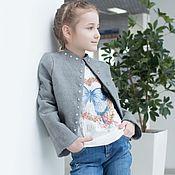 Работы для детей, handmade. Livemaster - original item Felted jacket Zodiac Signs-Tiger. Handmade.