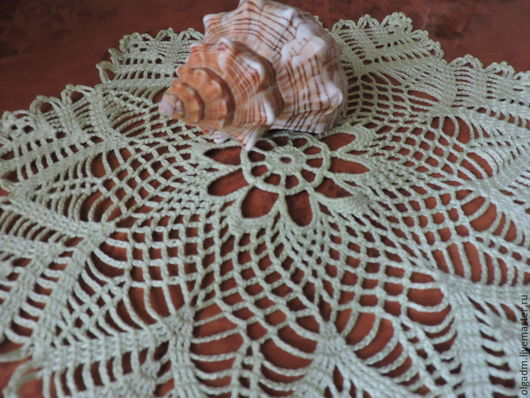 Текстиль, ковры ручной работы. Ярмарка Мастеров - ручная работа. Купить Салфетка крючком №20. Handmade. Мятный, салфетка ажурная