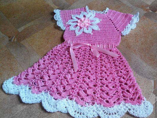 Одежда для девочек, ручной работы. Ярмарка Мастеров - ручная работа. Купить платье ажурное для девочки вязаное крючком Валерия. Handmade.