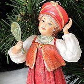 Сувениры и подарки handmade. Livemaster - original item Cotton Christmas tree toy Beauty girl. Handmade.