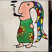 Сумки и аксессуары ручной работы. Ярмарка Мастеров - ручная работа Эко сумка большая ручной работы. Раста.. Handmade.