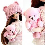 Куклы и игрушки ручной работы. Ярмарка Мастеров - ручная работа Мишель и мишка (интерьерная текстильная кукла). Handmade.
