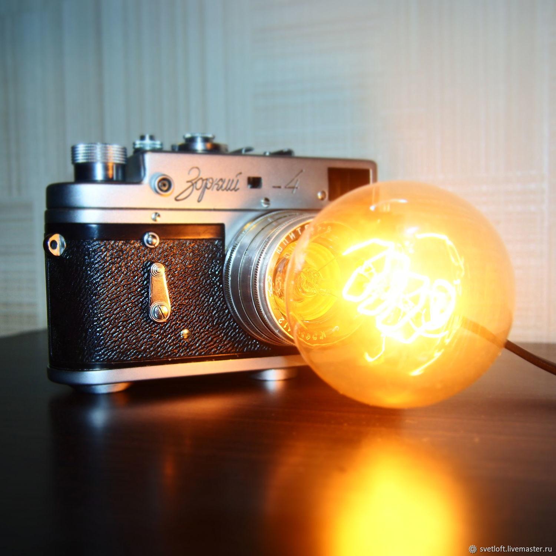 светильник в форме объектива фотоаппарата еды бич инстаграма