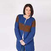 Одежда ручной работы. Ярмарка Мастеров - ручная работа Пальто кардиган из объемной шерсти. Handmade.
