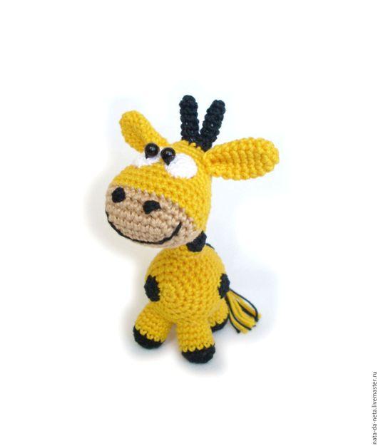 Игрушки животные, ручной работы. Ярмарка Мастеров - ручная работа. Купить Маленький Жираф. Жираф вязаный игровой,интерьерный. Handmade.